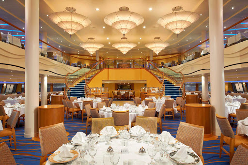 Carnival-Breeze-Sapphire-Dining-Room - Sail with Carnival Breeze and enjoy a night of exquisite dining in the Sapphire Dining Room.