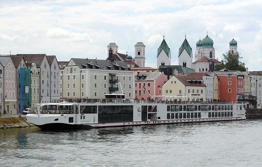 Viking-Bragi-Passau-Germany - The river cruise ship Viking Bragi in Passau, Germany.