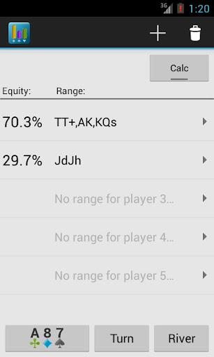 Equity App Free Poker odds