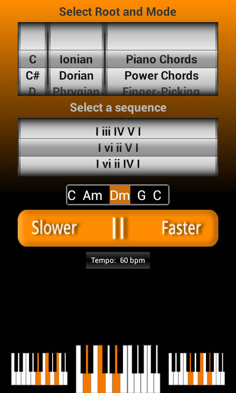ChordGen - Chord Progression - screenshot