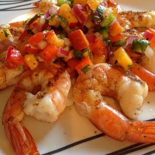 Grilled Shrimp with Peach Salsa Recipe