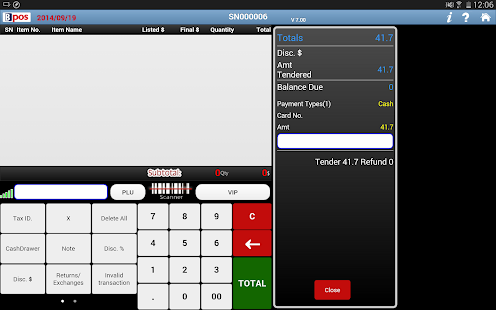 BPOS cloud pos system - screenshot thumbnail