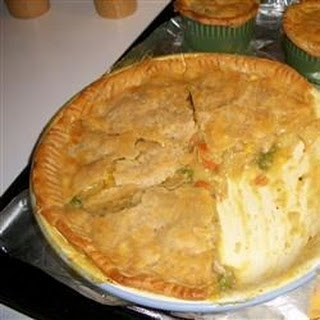 Chicken Pot Pies with Puff Pastry.