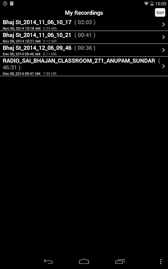 Radio Sai- screenshot