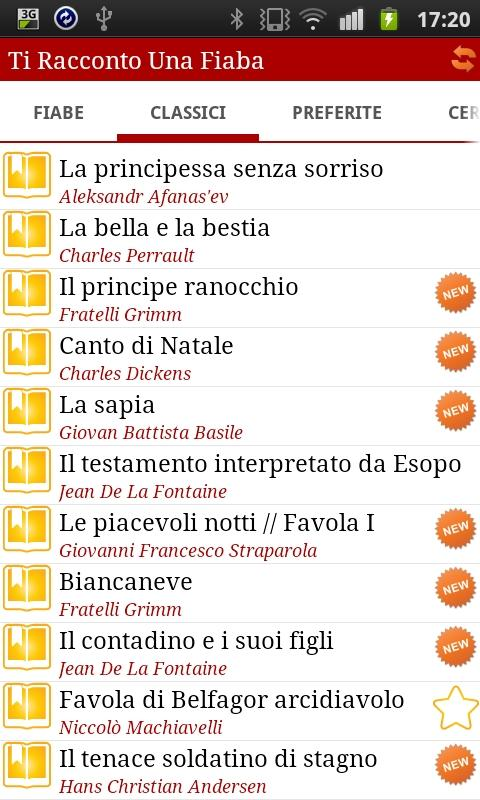 Learn Italian through fables - screenshot