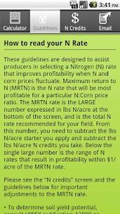Corn N Rate Calculator- screenshot thumbnail