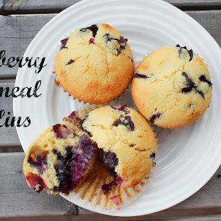 Blueberry Cornmeal Muffins.