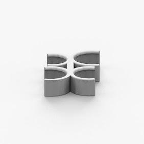 C字型コインホルダ(2列)