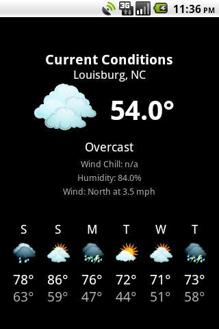 NWS Weather- screenshot