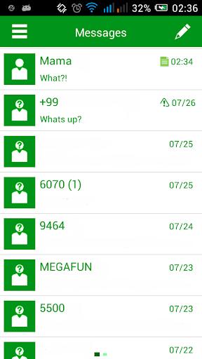 GO SMS Greeny Theme