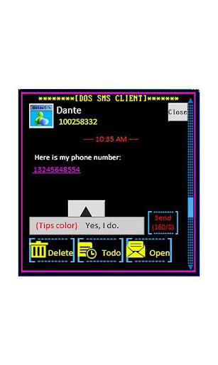 【免費個人化App】Windows DOS Go SMS Theme 2014-APP點子
