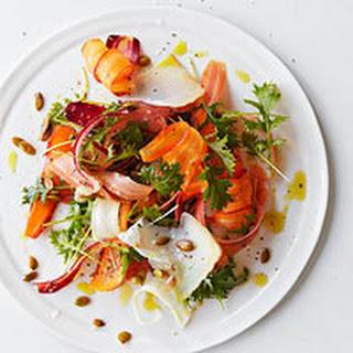 Rainbow Carrot & Mizuna Salad