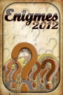 Enigmes 2012