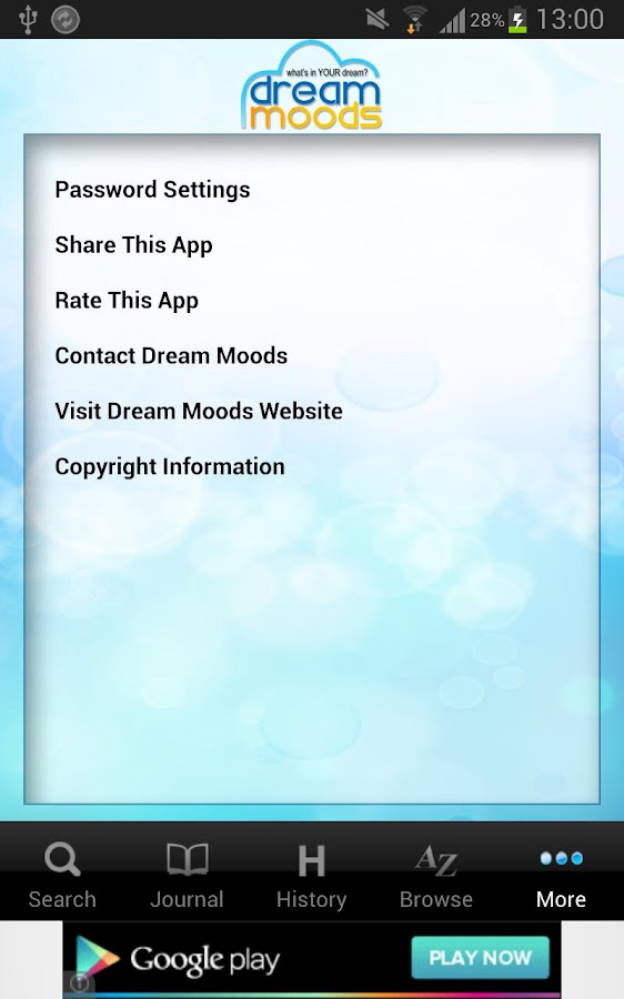 Dream Moods Dream Dictionary - screenshot