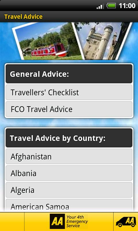 AA Travel Companion - screenshot