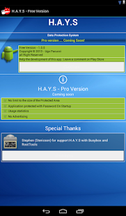 HAYS - Protect Files & Folders - screenshot thumbnail
