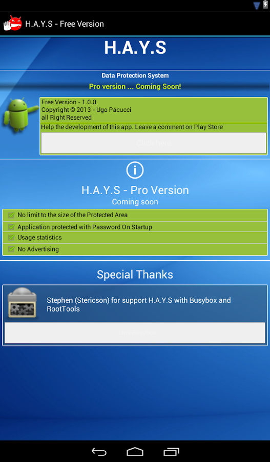 HAYS - Protect Files & Folders - screenshot