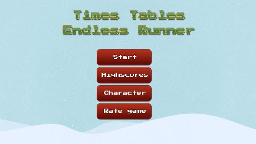 Times Tables Endless Runner
