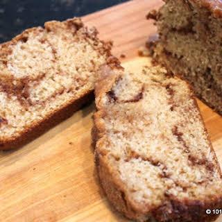 Cinnamon Sugar Swirl Quick Bread.