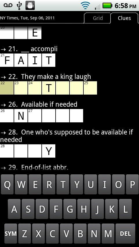 Crosswords Plus - screenshot