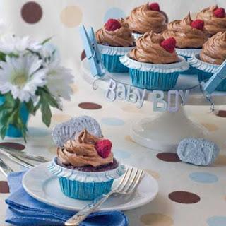 Gluten Free Sugar Free Chocolate Raspberry Cupcakes