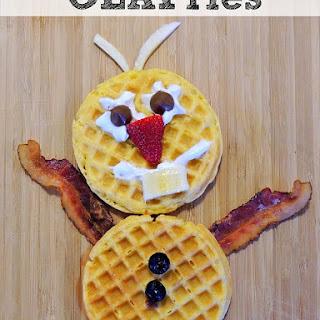 Frozen Movie Breakfast... Olaf Waffles.