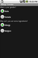 Screenshot of Allergy Traveler Language Pack