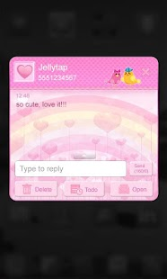 ♥ Cute Birds Love Theme SMS  ♥ - screenshot thumbnail