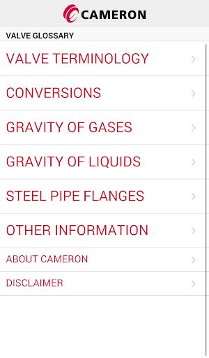 Valve Glossary