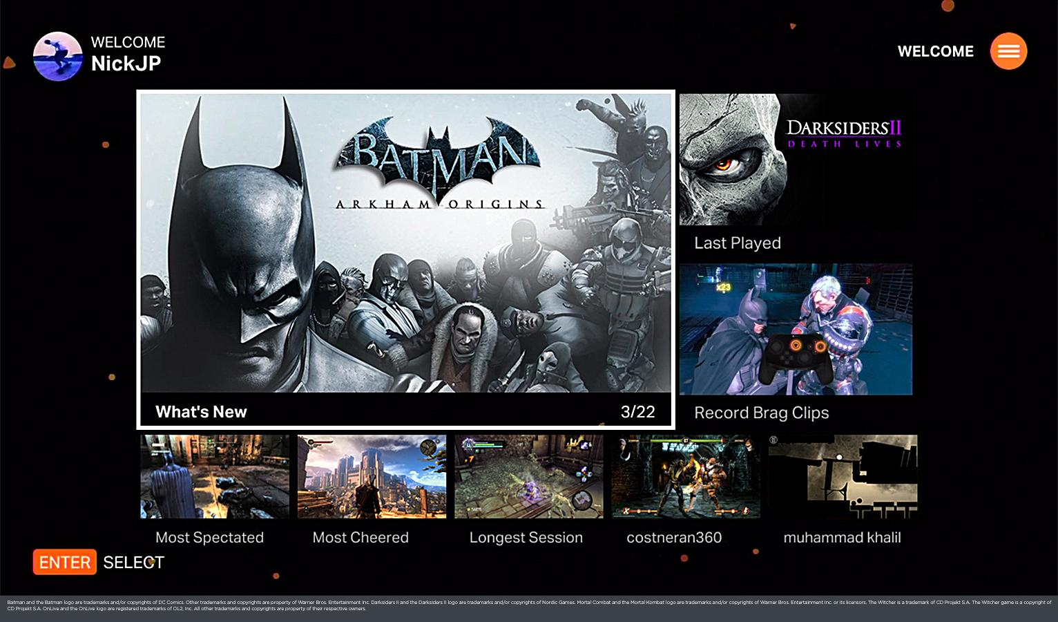 OnLive - screenshot