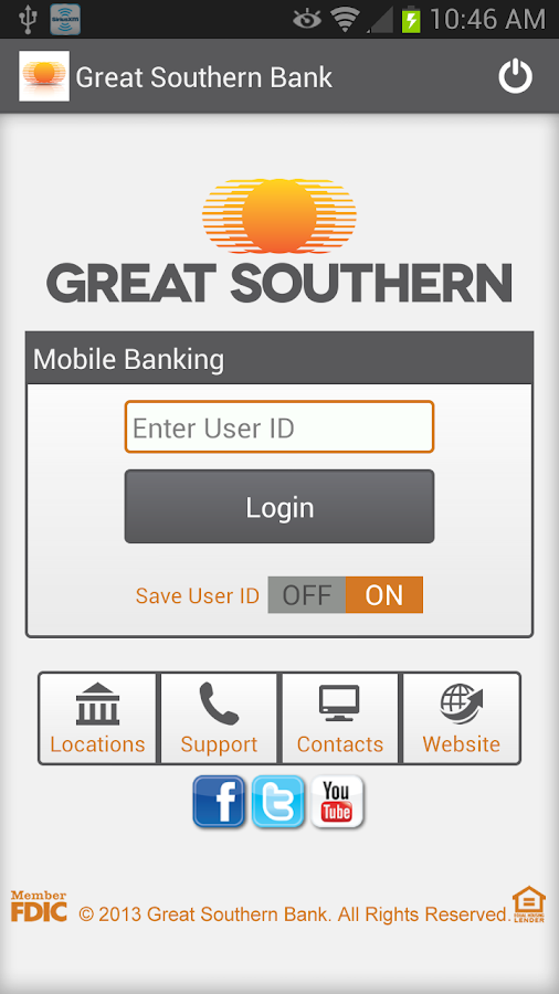 Great Southern Mobile Banking - screenshot