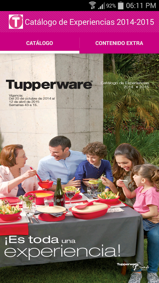 Tupperware México: captura de pantalla