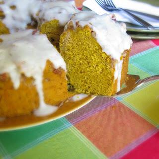 Brown Butter Pumpkin Bread with Vanilla Bean Icing