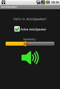 Auto Speaker - screenshot thumbnail