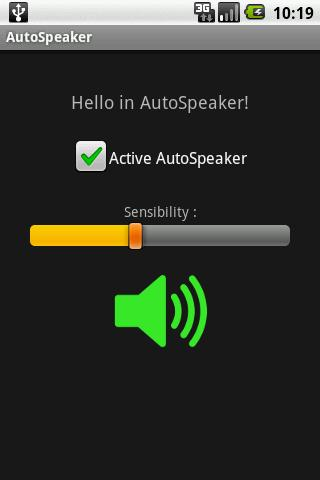 Auto Speaker - screenshot