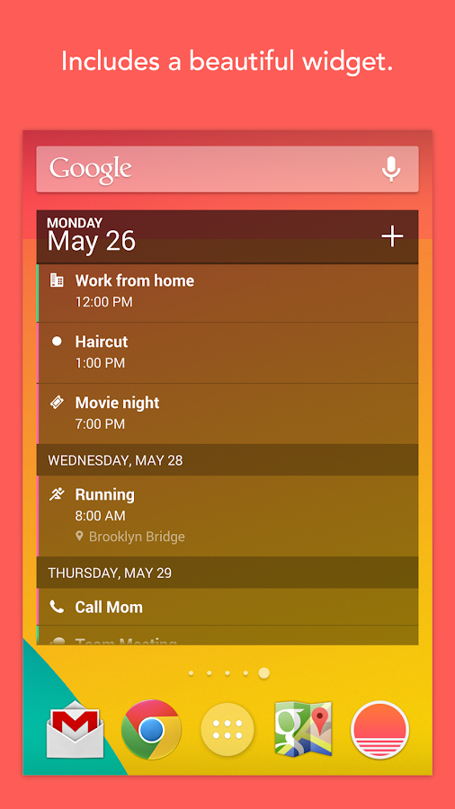 Sunrise Calendar - screenshot