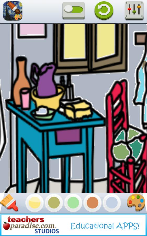Vincent Van Gogh Coloring Book Screenshot