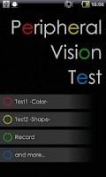 Screenshot of Peripheral Vision Test
