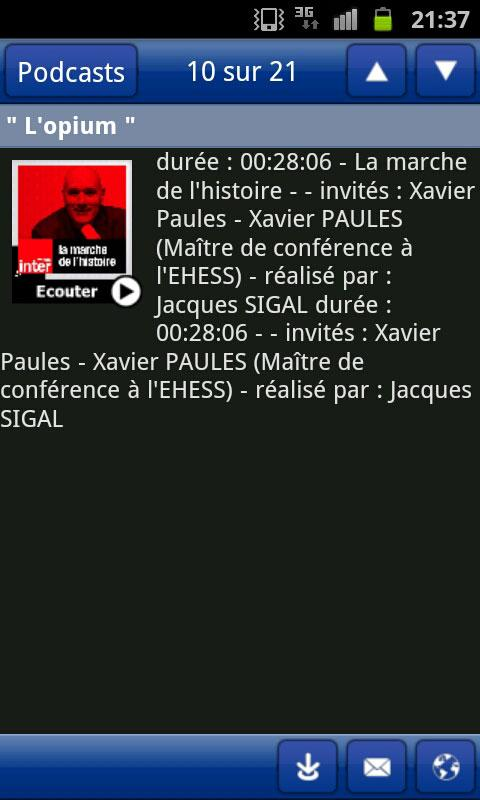 RADIO FRANCE - screenshot