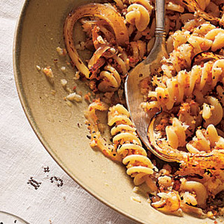 Fusilli with Caramelized Spring Onions and White Wine