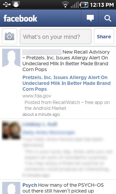 Recall Watch- screenshot