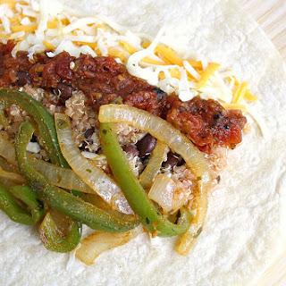 Quinoa Fajita Burritos