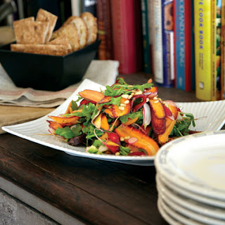 Roasted and Raw Carrot Salad with Avocado and Toasted Cumin Vinaigrette