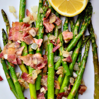 Asparagus with Bacon and Shallots.