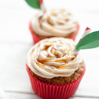 Caramel Apple Cupcakes.