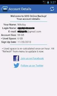 SOS Online Backup - screenshot thumbnail