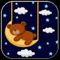 Sleeping teddy bear icon