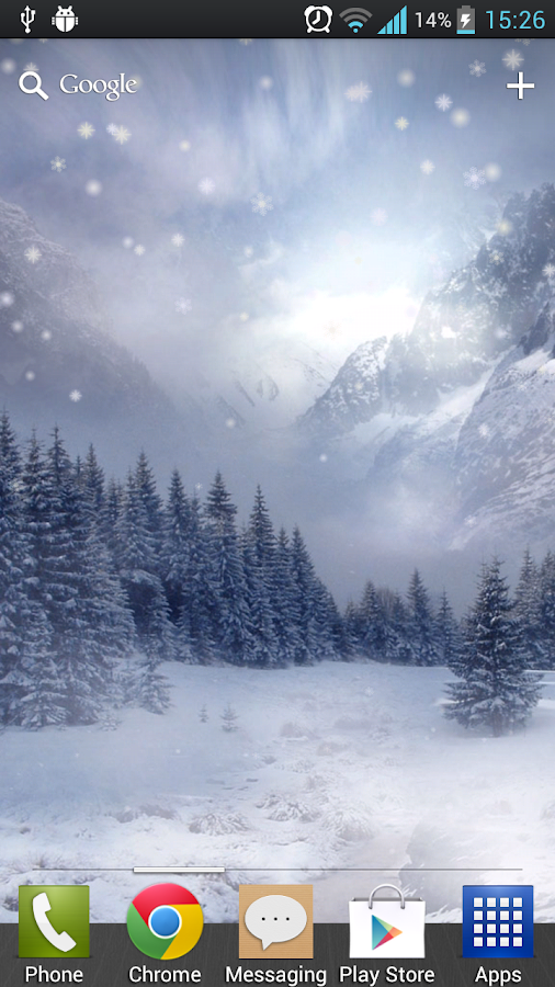 Snowfall Free Live Wallpaper - screenshot
