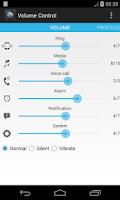 Screenshot of Volume Control