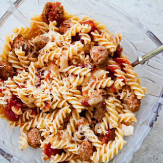 Pasta with Turkey Sausage and Smoked Mozzarella.